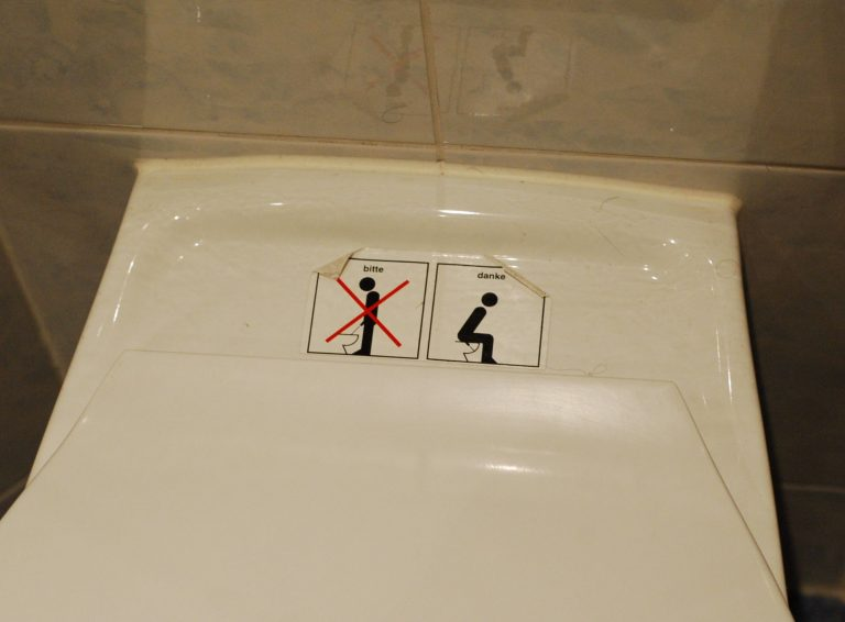 The German way to use the toilet